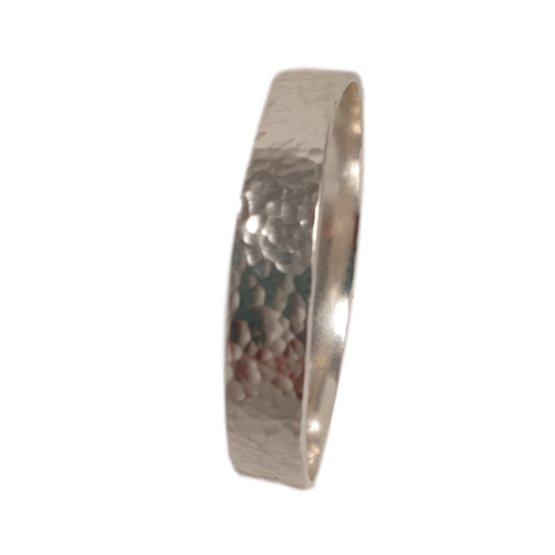 10mm Heavy Silver  Bangle 059