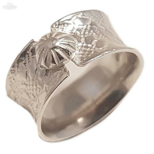 Silver button ring 4