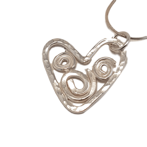 Small Filigree Heart Necklace