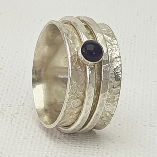 Spinner Ring with Amethyst