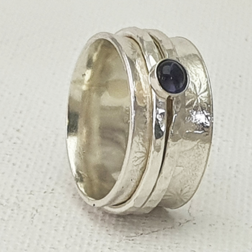 Spinner Ring with Iolite