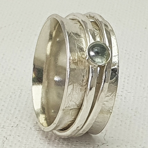 Spinner Ring with Topaz