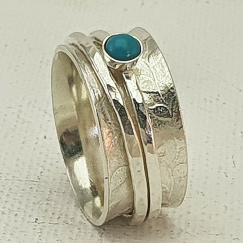 Spinner Ring with Turquoise